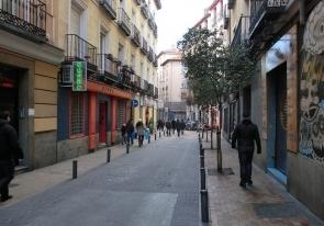 Vista de la Calle del Pez, en Malasaña