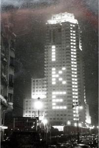 Torre Madrid durante la visita oficial de Eisenhower a Madrid en 1959