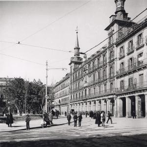 Plaza Mayor de Madrid en 1906