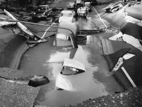 El 4 de octubre de 1967 en la Calle Almagro de Madrid se produjo un enorme socavón