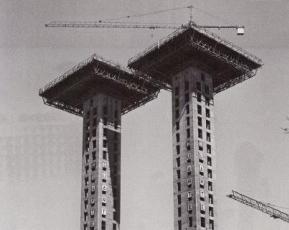 Obras de las Torres de Colón en Madrid