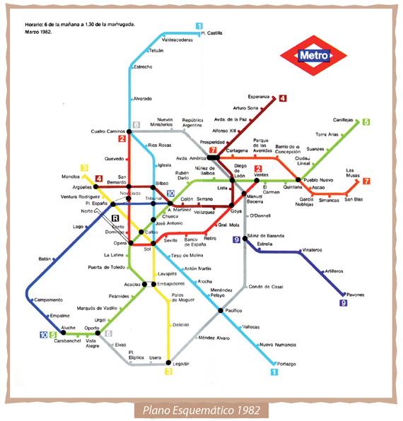 Mapa METRO 1982  Secretos de Madrid