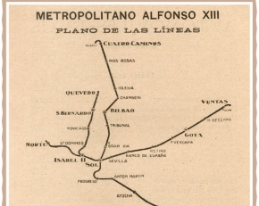 Mapa del Metro de Madrid en 1926
