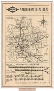 Mapa Metro 1945