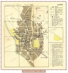 Mapa Metro 1952