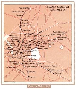 Mapa Metro 1969