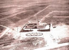 Imagen del primera Aeropuerto de Barajas (entonces Aeródromo) cuando fue inaugurado en 1931