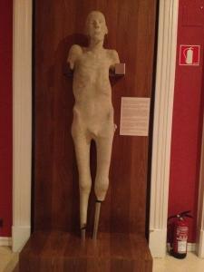 Vaciado de escayola de Agustin Luengo que se puede ver en el Museo Nacional de Antropología de Madrid
