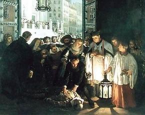 Cuadro donde se representa la muerte del Conde de Villamediana