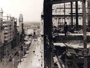 Imagen tomada desde la octava planta del edificio, Madrid
