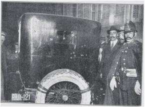 Coche de Eduardo Dato, en el que el Presidente fue asesinado a la altura de la Puerta de Alcalá