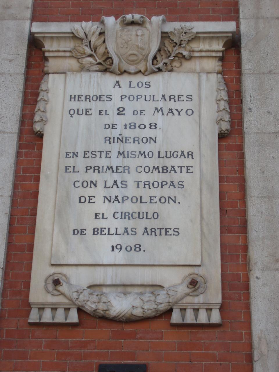 Placa 2 de mayo, Puerta del Sol