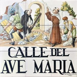 Azulejo que acompaña a la Call del Ave María
