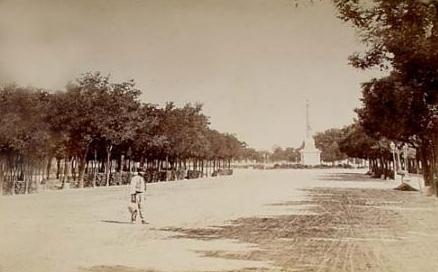Paseo de la Castellana, en Madrid (Fotografía antigua)