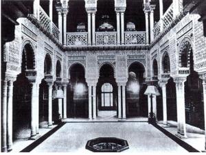 Patio Inteterior del Palacio de Xifré en Madrid