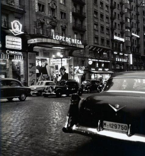 La Gran Vía, en 1950. Madrid