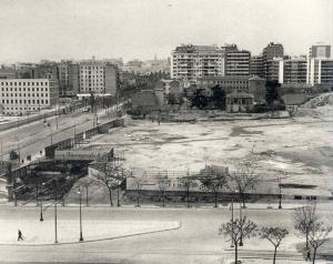 Solar donde se levantó el complejo de AZCA, foto de 1960, Madrid