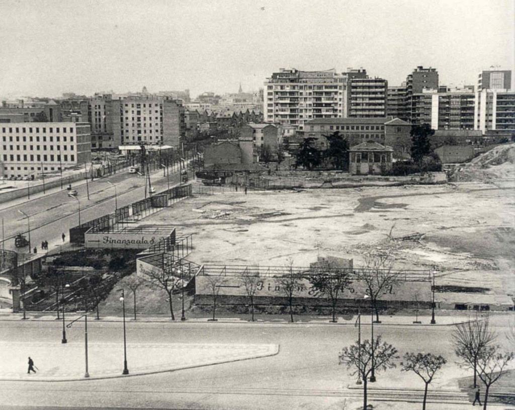 Solar donde se levantó el complejo de AZCA, foto de 1960