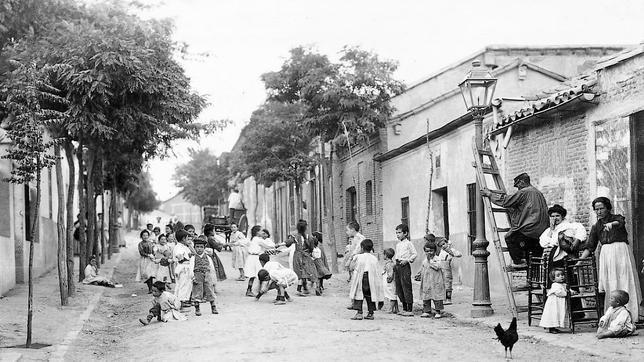 Barrio de Prosperidad, en 1906, en Madrid.