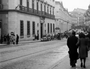 La Calle de San Bernardo, en 1950, Madrid.
