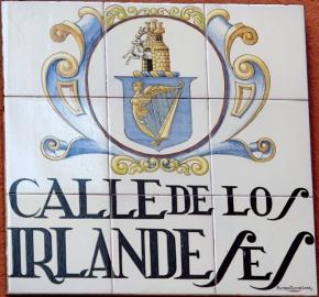 Placa de la Calle de los Irlandeses, situada en Madrid