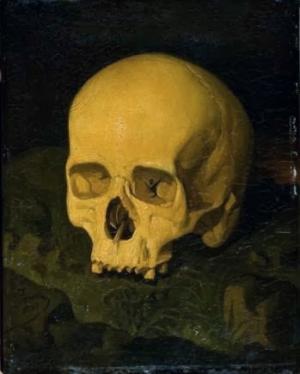 Cuadro del supuesto cráneo de Goya, de 1848