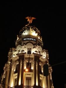 metropolis iluminado, madrid