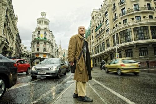 Antonio Lopez en la Gran Vía de Madrid