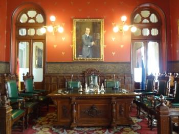 Salón de Cotizar, en el Palacio de la Bolsa de Madrid