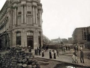 Obras de la Gran Vía, en 1910, Madrid