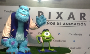 Entrada a la exposición de Pixar, en Madrid