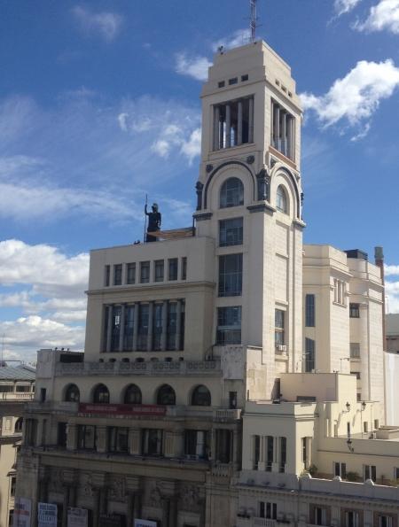 Circulo de Bellas Artes visto desde el Metrópolis