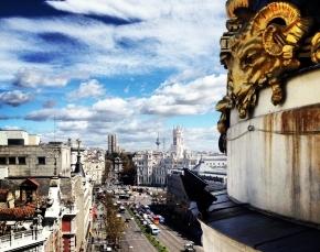 Vista desde la terraza del Edificio Metrópolis, en Madrid