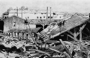 Destrozos provocados por el tornado del 12 de mayo de 1886, en Madrid