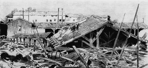 Efectos en Madrid del tornado que asoló la ciudad en 1886