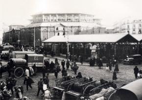 Mercado de la Cebada, en 1920, Madrid