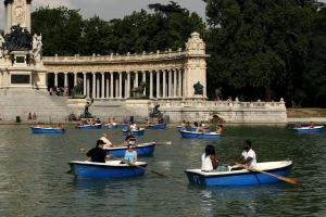 Barcas en el Retiro, Madrid