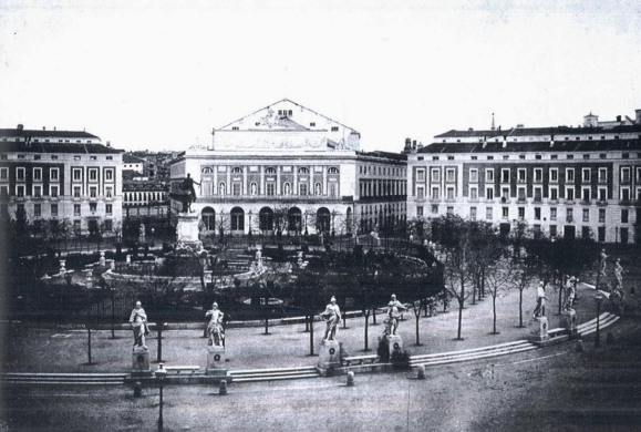 Plaza de Oriente antigua