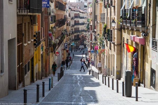 Calle del Amparo , en Madrid. Foto de Callejeando Madrid