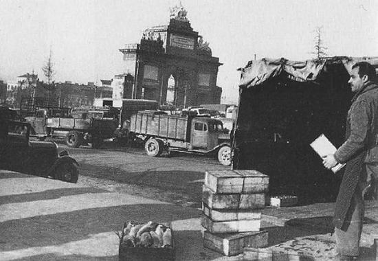 Mercado Central de Pescado en Puerta de Toledo, en 1959