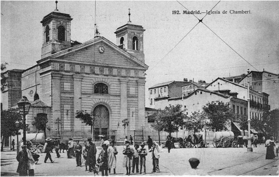 Glorieta de Iglesia, en Chamberí