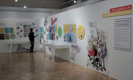 Exposición de Francisco Ibañez , en el Círculo de Bellas Artes, en Madrid