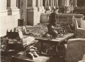 Palacio de Liria bombardeado durante la guerra Civil, Madrid