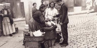 Castañera en Madrid, 1920