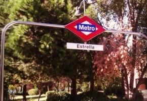 Parada de Metro de Estrella, en Madrid
