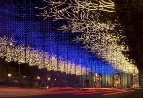 La Calle de alcalá, en Navidad, Madrid