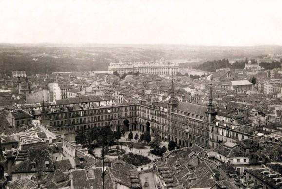 Fotos antiguas: La Plaza Mayor desde el aire