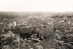 Plaza Mayor, en 1928, Madrid