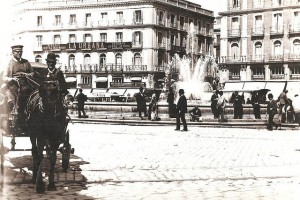 Puerta del Sol en 1890, Madrid