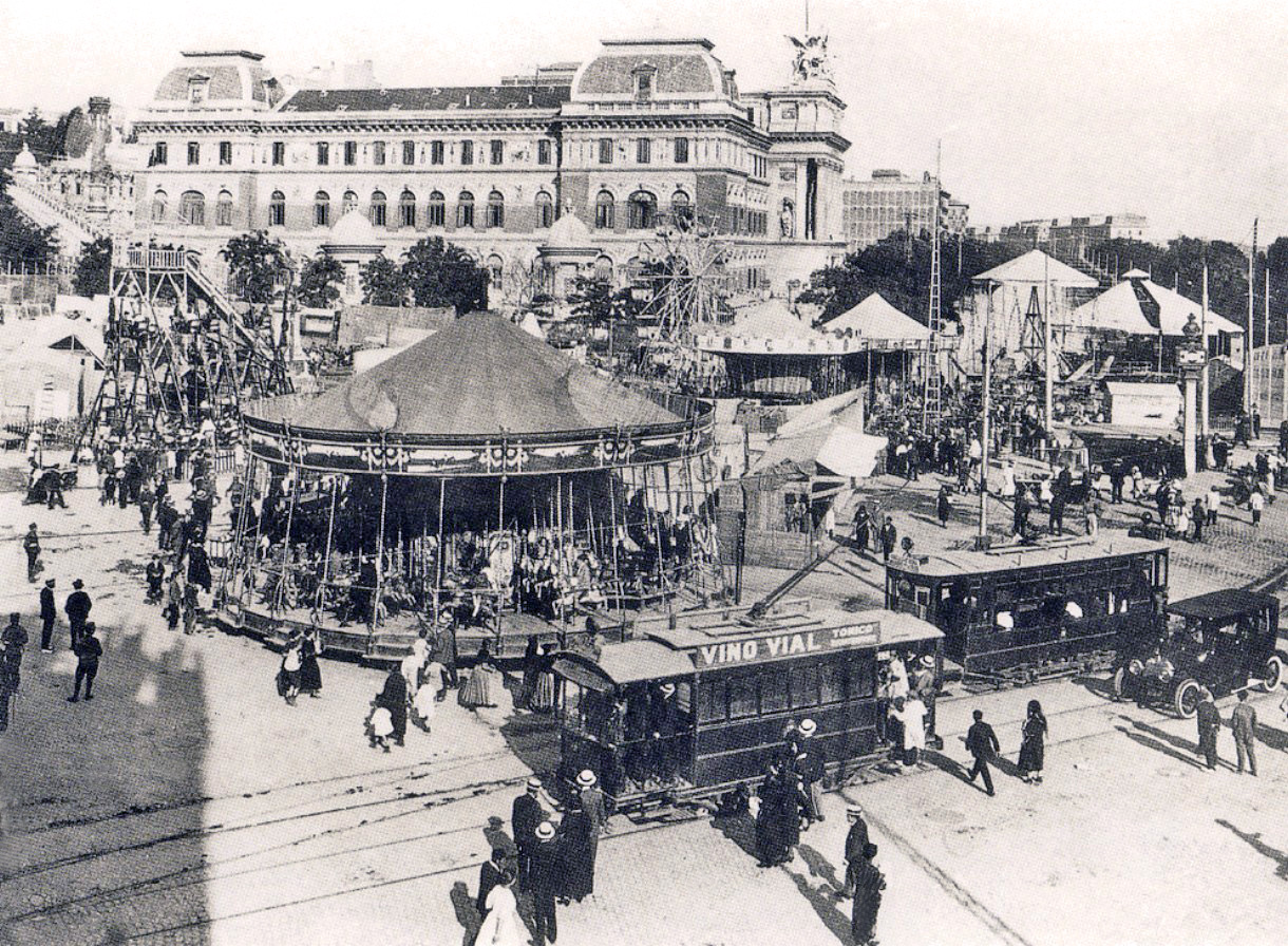 Glorieta de Atocha, en 1920, Madrid